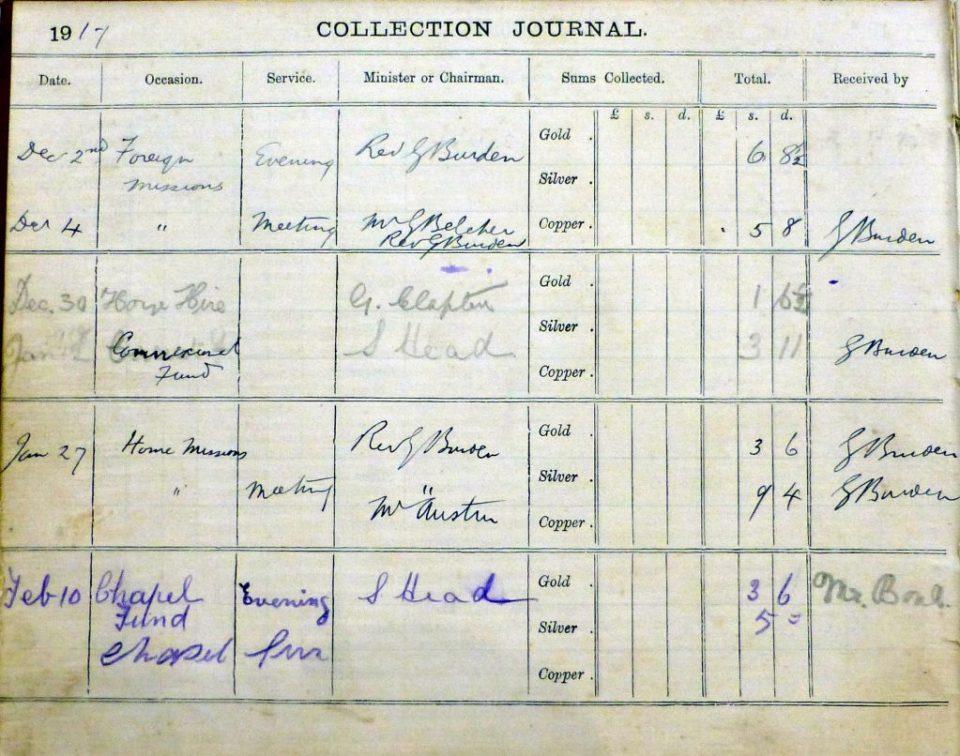 Sample extract  Dec 1917 to Feb 1918