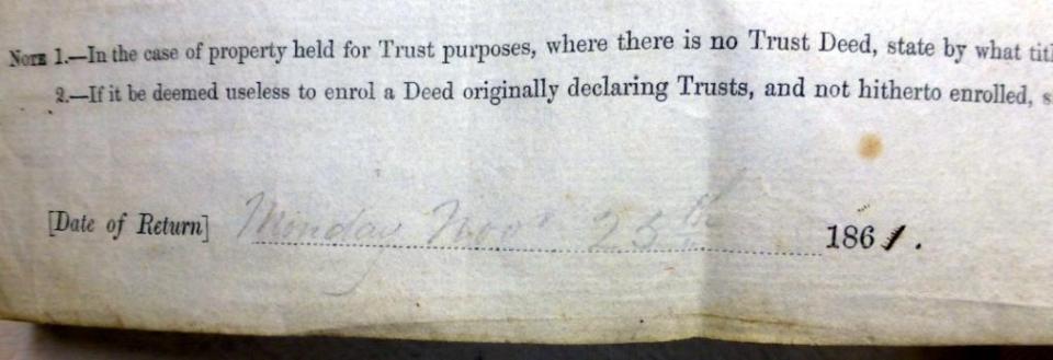 Monday Nov 25th 1861