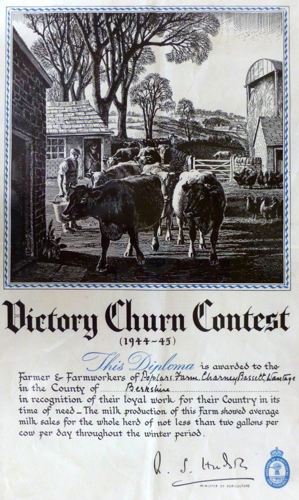 Victory Churn Contest - Poplars Farm
