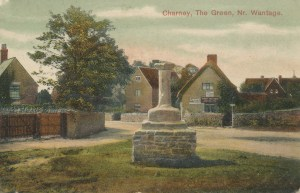 Village Cross and Shop COLOUR Postcard 1908