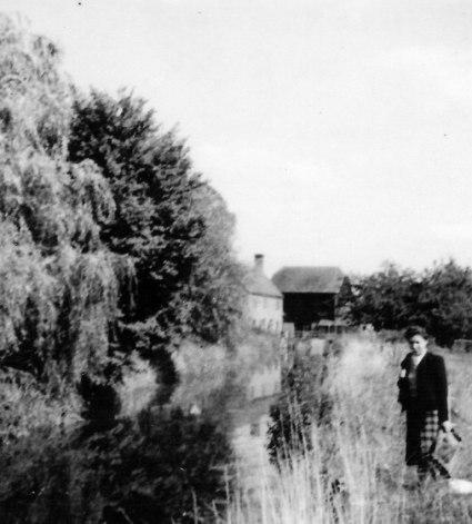 Helen Mewett by R. Ock, Mill in background