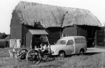 Tony Dore outside Minmere Barn