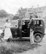 Olive Dora Belcher and Raymond Hicks c 1935 outside The Chequers