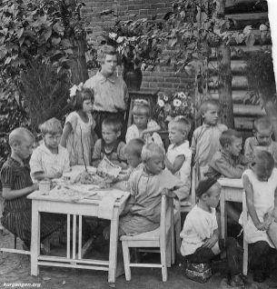 Детский сад в г. Кургане. 1924 г.