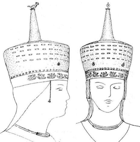 Реконструкция элитного женского головного убора (по Т.М.Потемкиной)