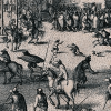 The execution of the eight surviving conspirators of the Gunpowder Plot. Wellcome Images via Wikimedia , CC BY-SA