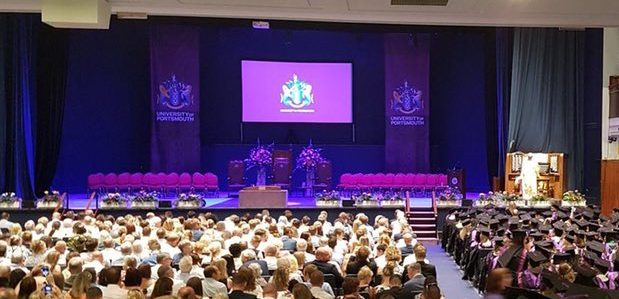 All set for the ceremony in Portsmouth Guildhall
