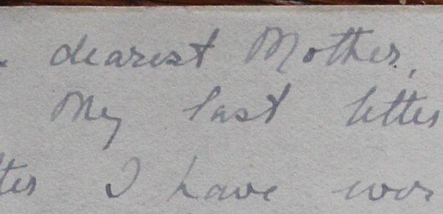 Marie Marten's letter