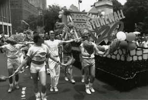 English: Gay Pride Parade, New York City, 1989