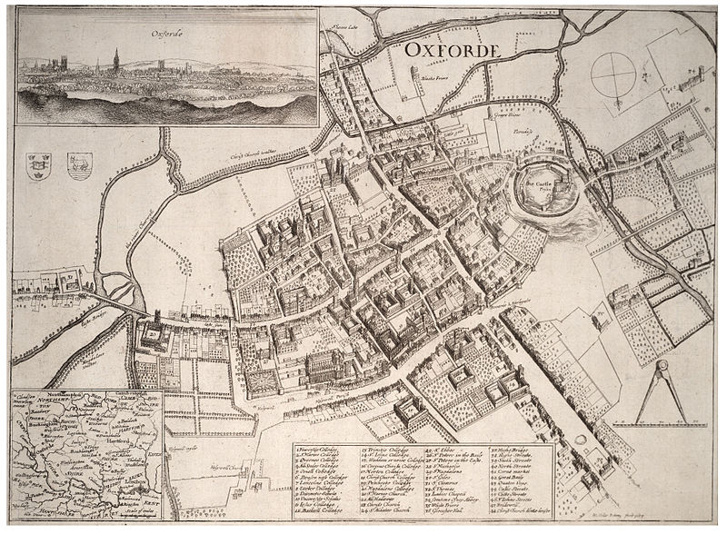 Map of seventeenth century Oxford by Wenceslas Hollar