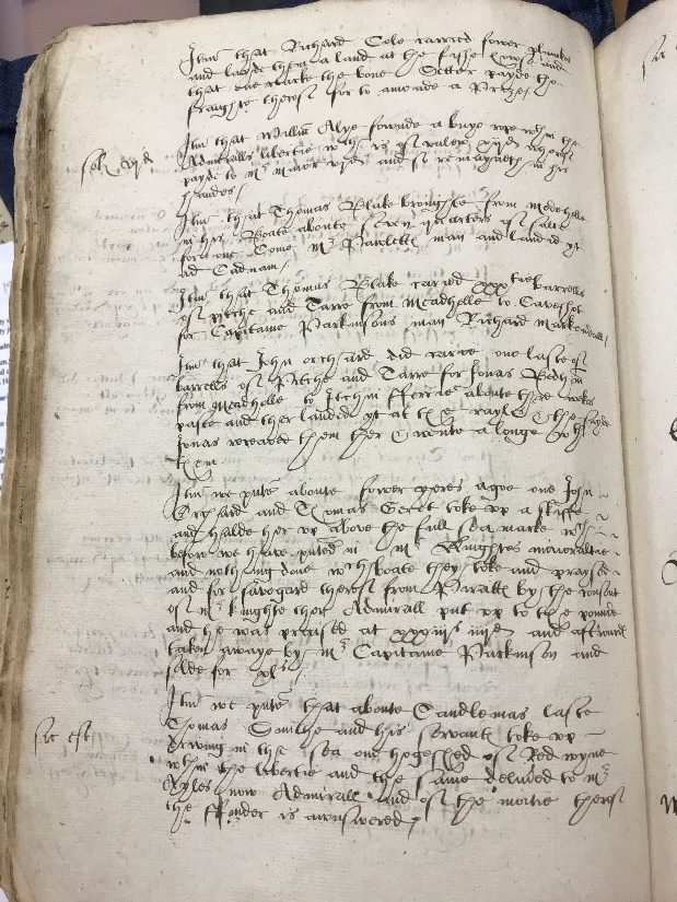 SC8/1/1 – A page within the book displaying the complicated, but highly fascinating, nature of Elizabethan documents