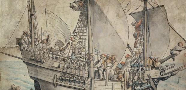 Hans Holbein ship with sailors