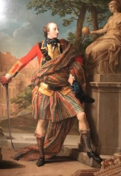 Portrait of Colonel William Gordon in tartan, 1766