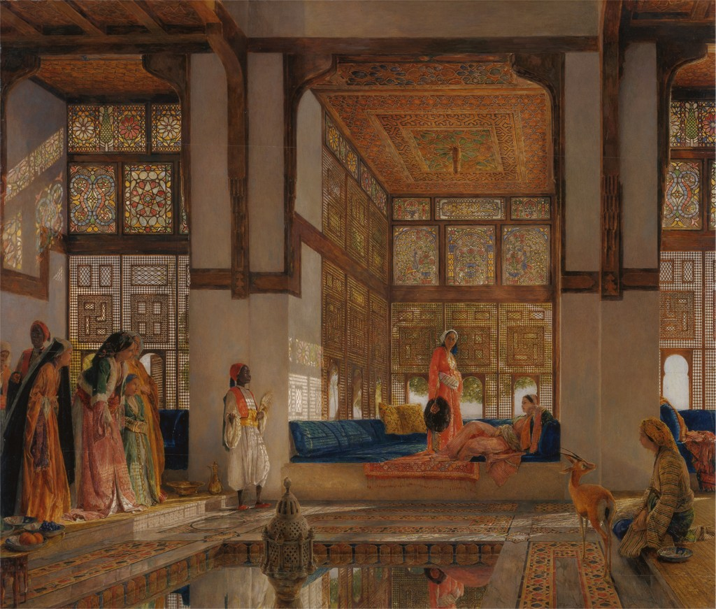 A Lady Receiving Visitors (The Reception), John Frederick Lewis, 1873, Yale Center for British Art, Paul Mellon Collection