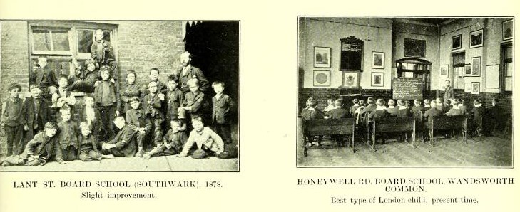 Photographs of two school groups