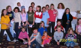 NW Ice Creamers Petite B brought home a Bronze Medal from the Red Deer Tournament.This is a photo of the girls (and some siblings) following a scavenger hunt in the hotel after the end of the tournament.