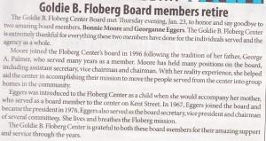 Goldie B Floberg Board