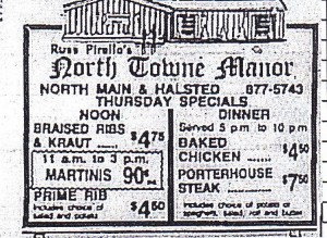 North Towne manor ad 1981