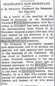 Skandia Standard's New Secretary