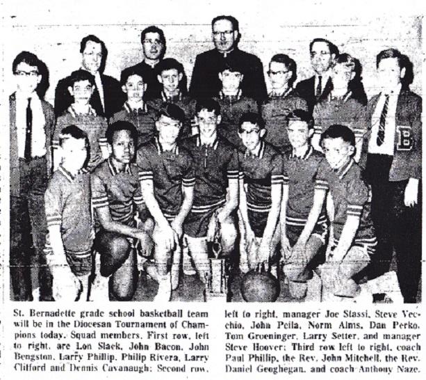 St Bernadette's Basketball 1964