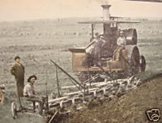 Emerson Moldboard Plow Tractor, 1909 Postcard