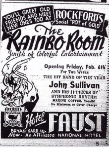 Hotel Faust advertisement, 1942