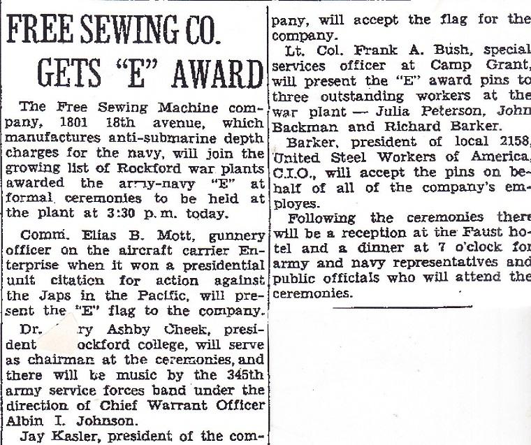 Free Sewing Machine Apr 1944