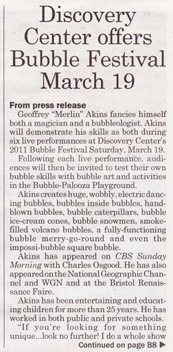 Bubble festival