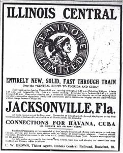 1909 Illinois Central Advertisement