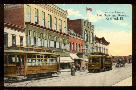 Postcard State and Wyman