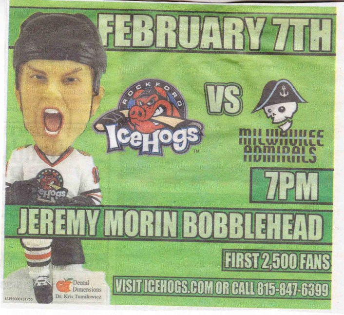 Rockford Icehogs bobble