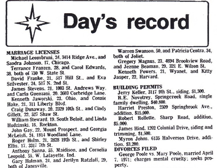 Days Record 1976