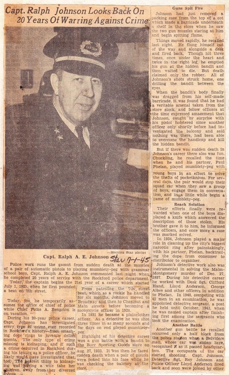 Johnson, Capt. Ralph A.E.