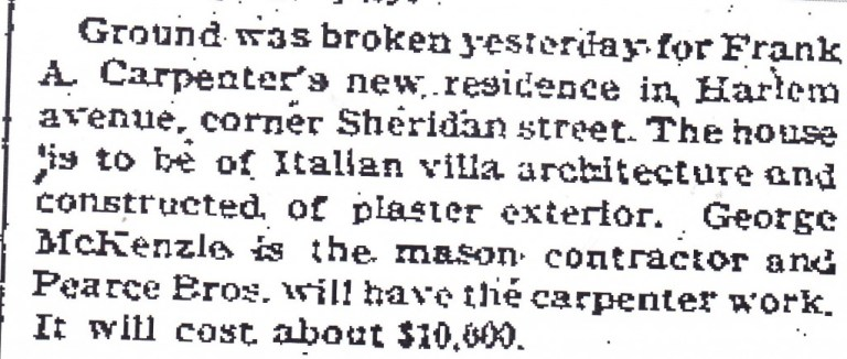 Sheridan St.-Carpenter article