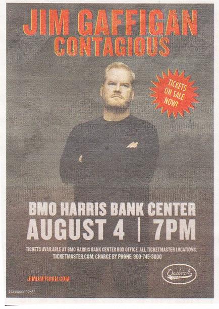 Jim Gaffigan Bmo Harris Bank Center 2015 Rpl S Local History