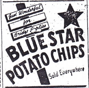 Blue Star Potato Chips ad