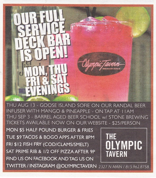Olympic Tavern RRT small  ad