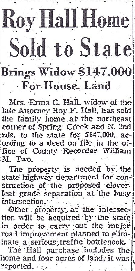 Roy Hall home sold