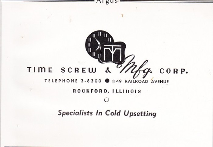 Time Screw & Mfg Co.