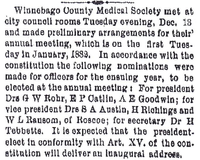 Winnebago Medical 1881