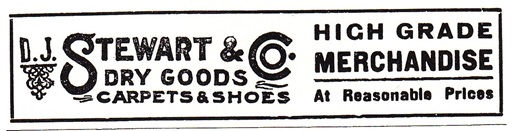 D.J. Stewart & Co. High Grade Merchandise Ad
