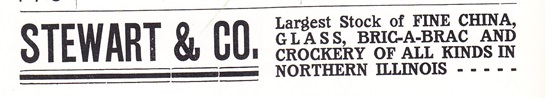 Stewart & Co ad fine china