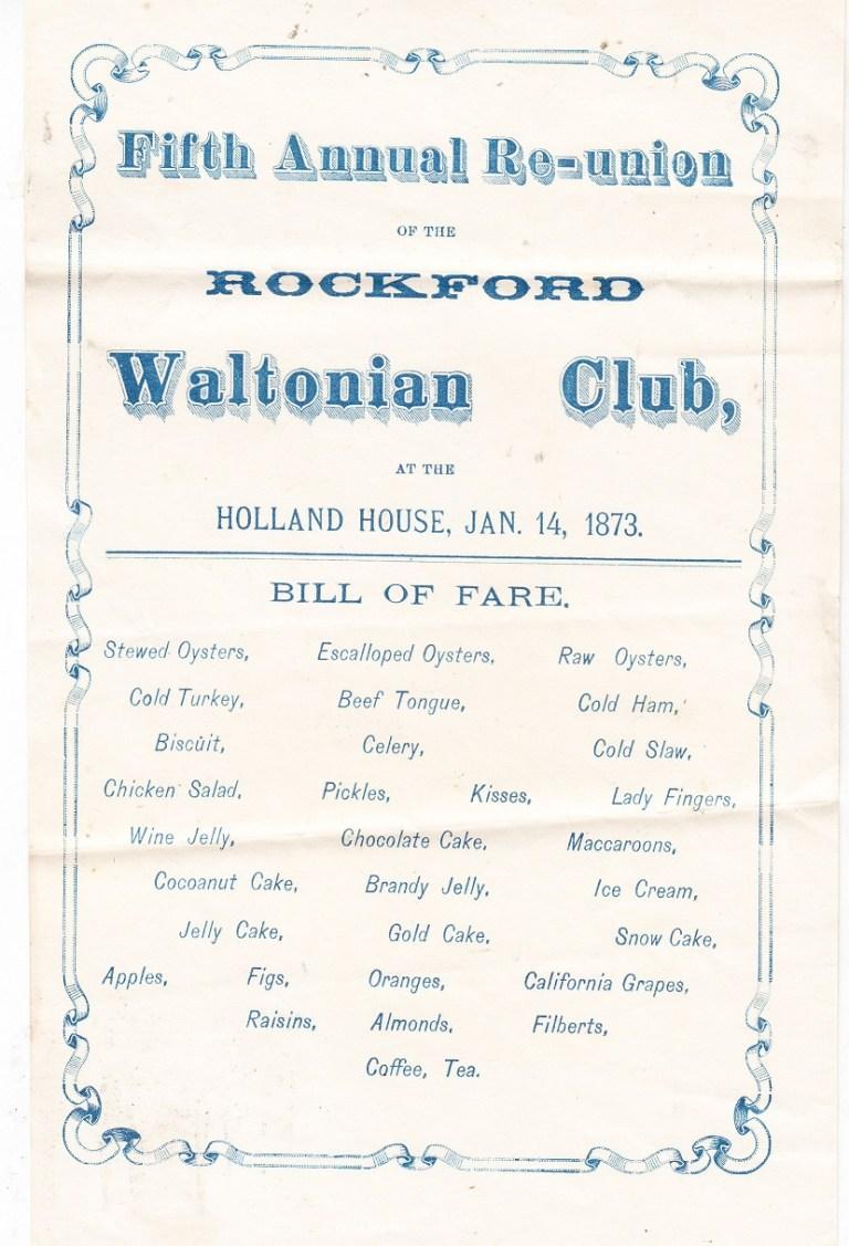 Waltonian Club dinner