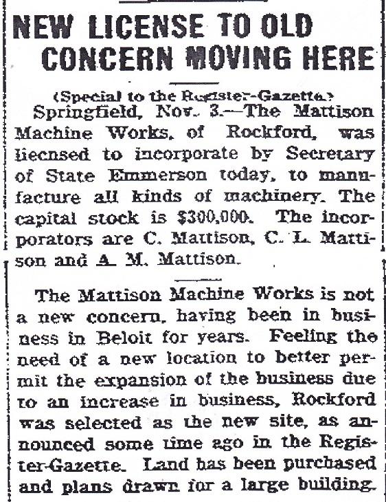 Mattison Machine - 1