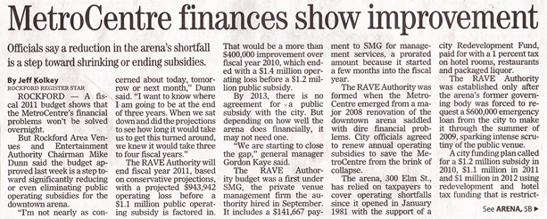MetroCentre finances