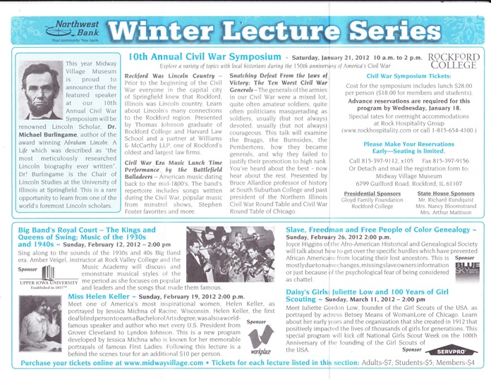 Midway Village Winter Lecture Series
