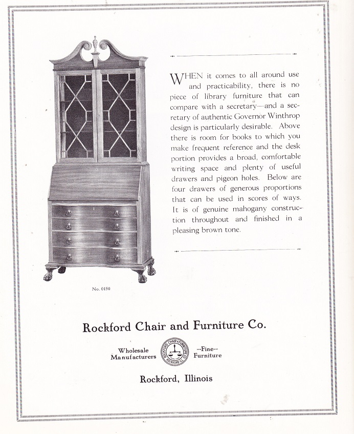 Rockford Chair Apr 1925