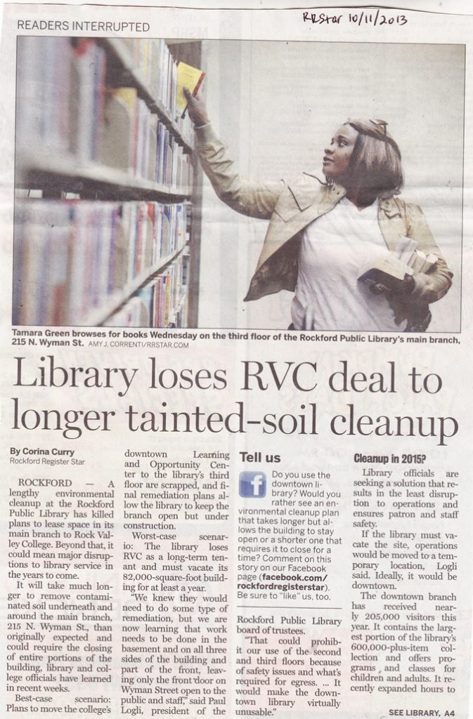 Rockford Public Library and RVC