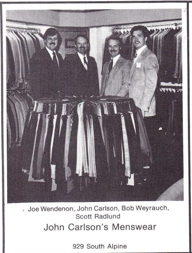 John Carlson Menswear 1980