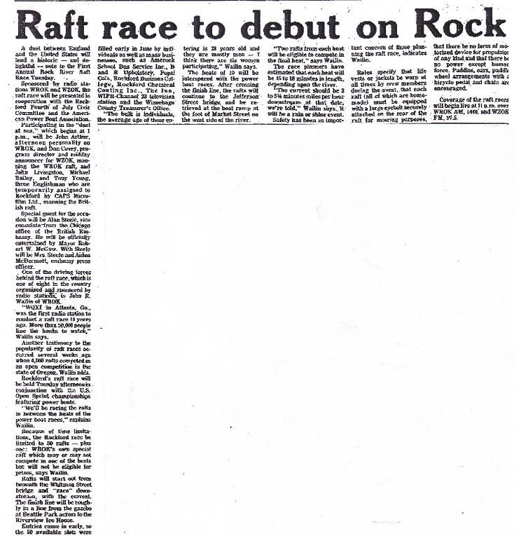 Raft Race to Debut